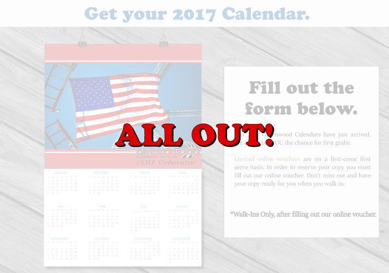 All Out! Greenwood 2017 Calendar.