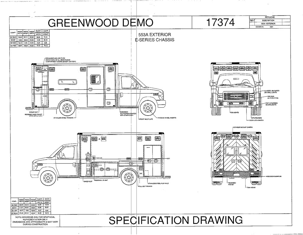 Ford E-450 Type III Ambulance – Greenwood Emergency Vehicles