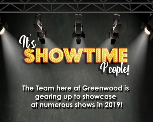 Greenwood to showcase at numerous shows for 2019!